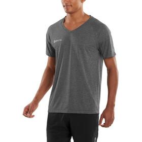 Skins M's PlusVector V Neck Short Sleeve Black/Marle